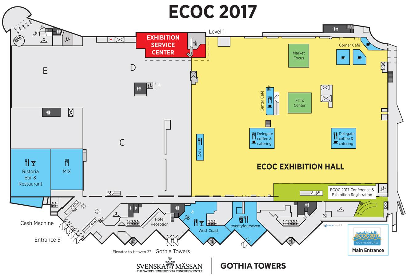 Venue Floor Plan Ecoc Conference 2017